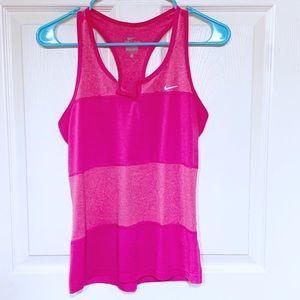 Nike Hot Pink Striped Tank Top